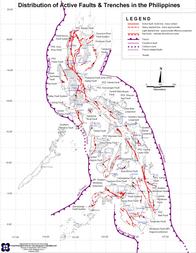 Phivolcs Maps Are Incomplete Due To Lack Of Geologists SciTech - Map of fault lines in the us