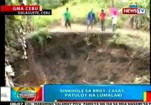 sinkholes in cebu Cebu the mines and geosciences bureau conducted an inspection on the alleged sinkhole along juana osmeña street, cebu city (from the facebook post of the mines and geosciences bureau central visayas.