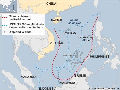 New Chinese map gives greater play to South China Sea claims