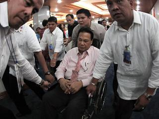 Corona exits session hall after trial adjournment