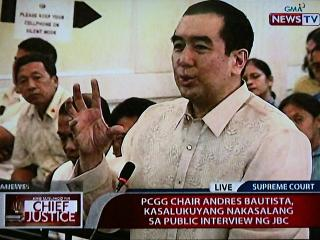 JBC panel interview for next CJ begins with Andres Bautista
