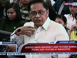SC is a wounded court, CJ nominee and SC Justice Roberto Abad tells the JBC
