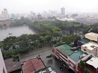 Flood turns UST grounds into urban lake