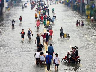Cainta flood subsides in some areas