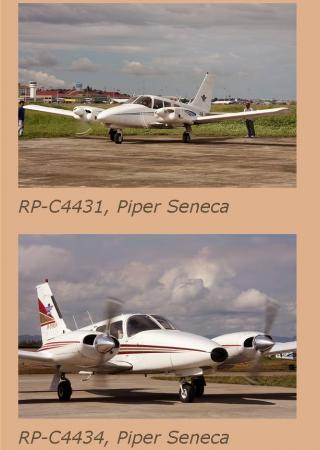 DILG chief Robredo boarded a Piper Seneca plane like these two