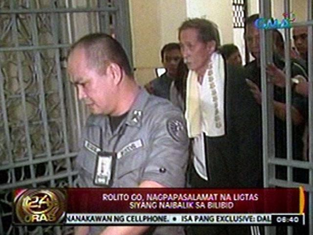 the kidnapping of rolito go 2012-9-3 at least 5 kidnapping incidents have  kidnapping in bilibid: 5 cases  said that excluding the alleged kidnapping of convicted road rage killer rolito go.