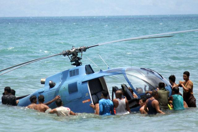 Navy chopper used in Robredo search ops makes emergency ...