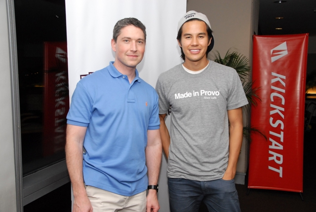 Joe Ziegler and Garrett Gee at the Kickstart event gave young Filipino entrepreneurs pointers on what it  takes to be a technopreneur. Photo courtesy of Kickstart Ventures