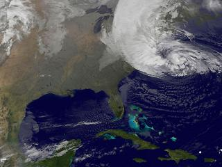 Hurricane Sandy approaches US East Coast