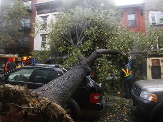 Hurricane Sandy hits several East Coast cities