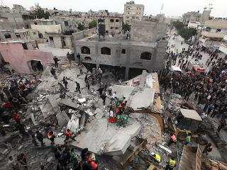 Casualties rise as Israel planes pound Gaza Strip