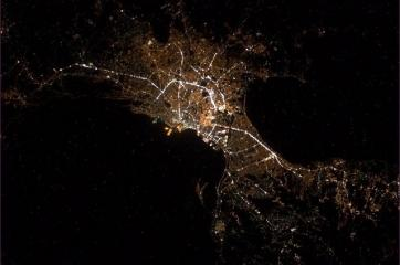 Nighttime Manila as seen from outer space