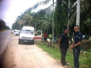Ambulance arrives in Sabah clash site