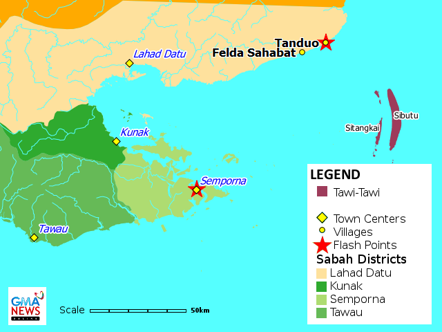 Sabah Standoff Map