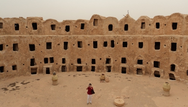 The centuries-old storage rooms looked like catacombs in the Sahara desert