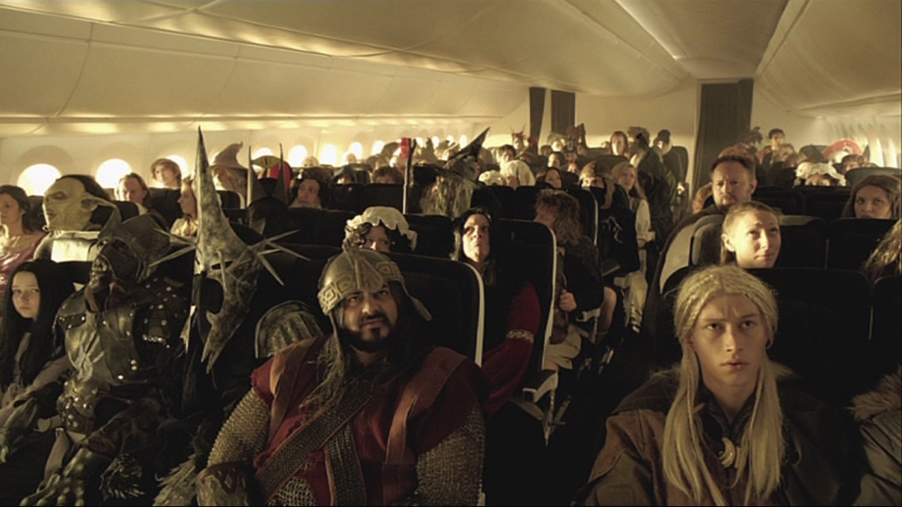 Passengers From Middle Earth In Air New Zealand Safety